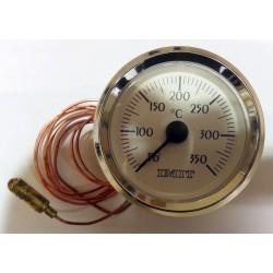Termómetro para horno redondo con Bulbo y capilar de 1 mts desde +50ºC a +350ºC
