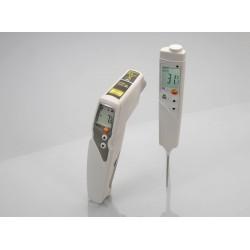 Set termómetros por infrarrojos Testo 831 y penetración Testo 106 05638315 Testo Termómetros infrarrojos y láser 192,40 € 192...